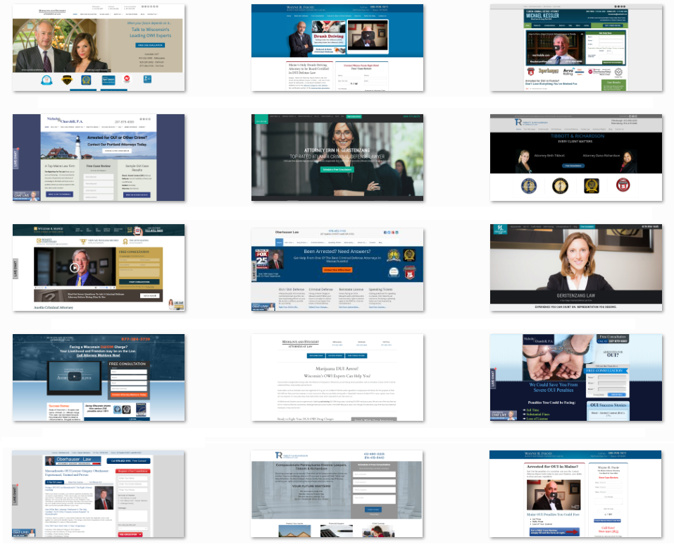 Custom designed websites for Law Firms