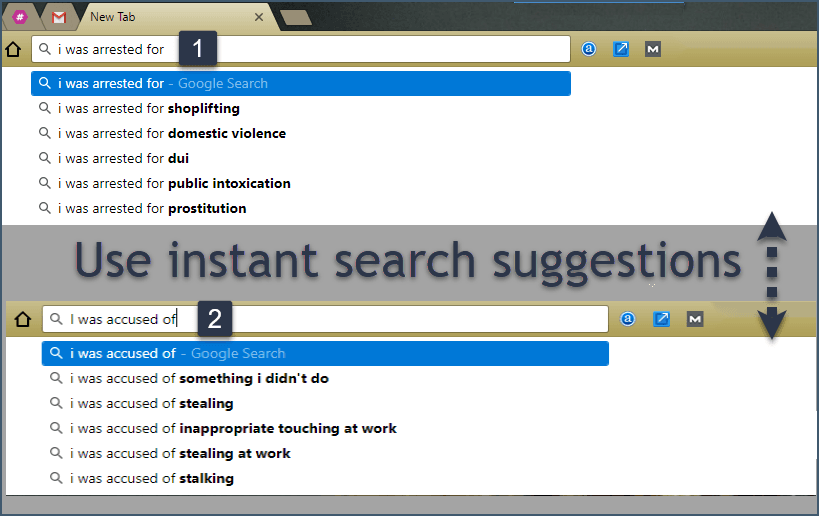 Legal searches on Google