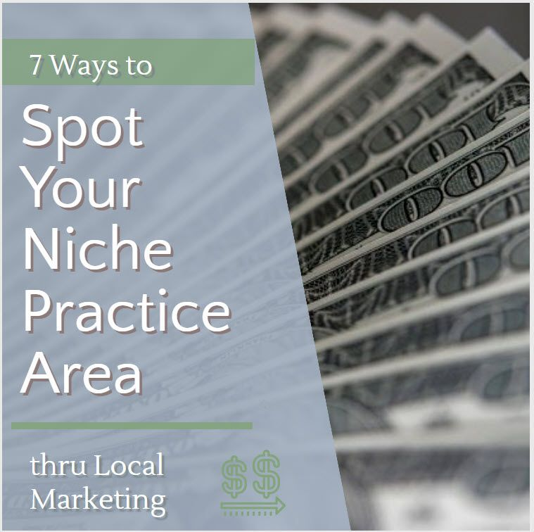 7 Ways Local Internet Marketing Can Help You Spot Niche Law Practice Areas